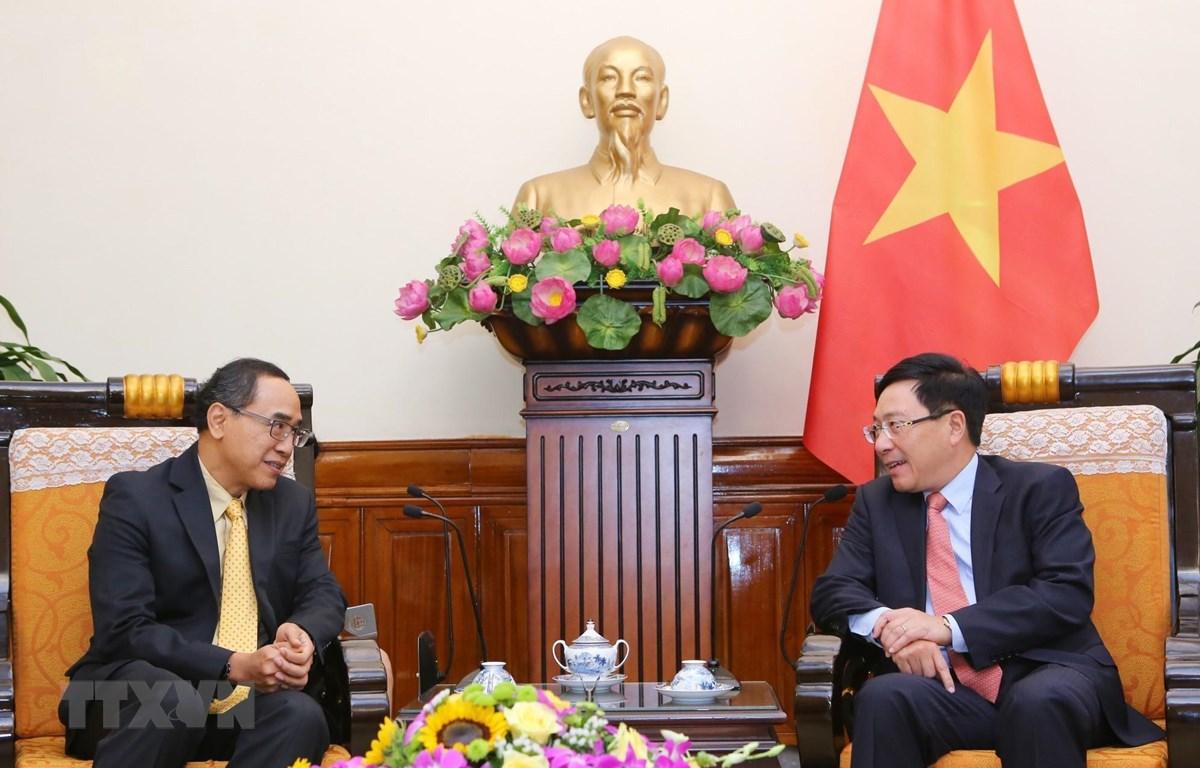 Phó Thủ tướng, Bộ trưởng Ngoại giao Phạm Bình Minh tiếp Đại sứ Thái Lan. (Ảnh: Thành Đạt/TTXVN)