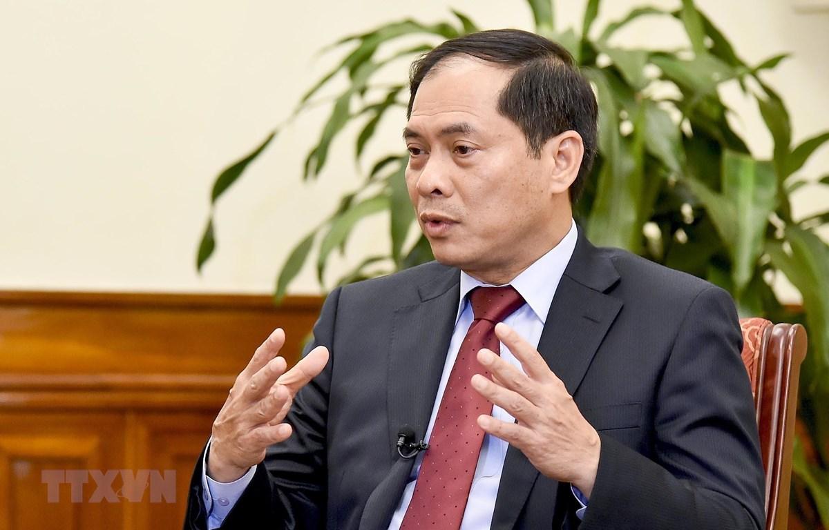Thứ trưởng Thường trực Bộ Ngoại giao Bùi Thanh Sơn. (Ảnh: TTXVN)