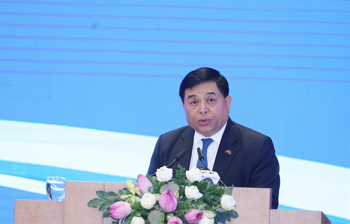 Bộ trưởng Bộ Kế hoạch và Đầu tư Nguyễn Chí Dũng phát biểu. (Ảnh: Lâm Khánh/TTXVN)