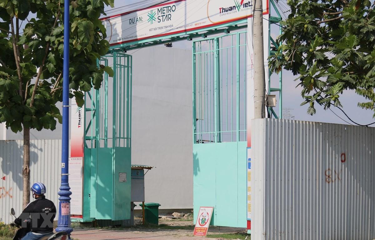 Dự án 360 Xa lộ Hà Nội, quận 9 liên quan đến sai phạm chuyển nhượng đất công. (Ảnh: Trần Xuân Tình/ TTXVN)