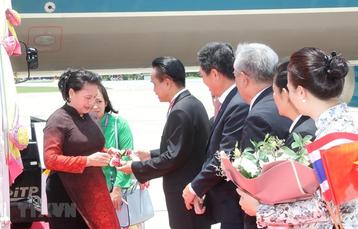 Lễ đón Chủ tịch Quốc hội Nguyễn Thị Kim Ngân. Ảnh: Trọng Đức - TTXVN