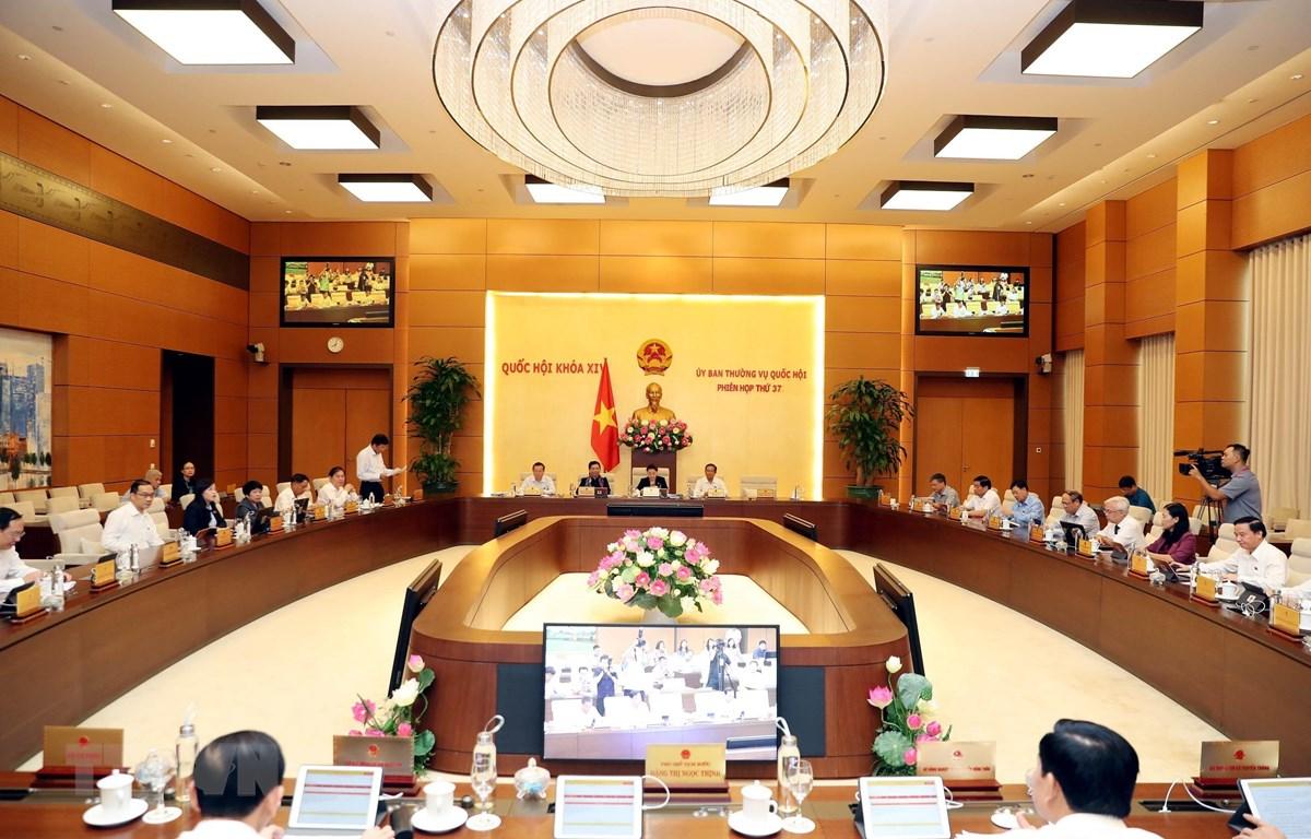 Khai mạc Phiên họp thứ 37 Ủy ban Thường vụ Quốc hội. (Ảnh: Trọng Đức/TTXVN)