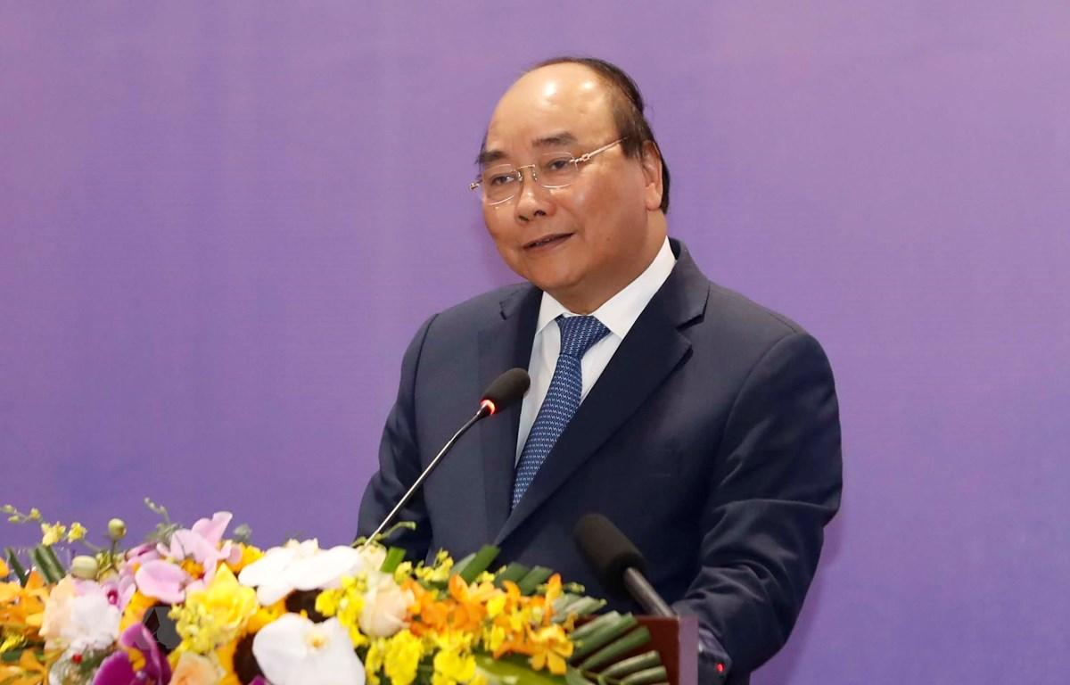 Thủ tướng Nguyễn Xuân Phúc đến dự và phát biểu tại Diễn đàn Cải cách và Phát triển Việt Nam 2019. (Ảnh: Thống Nhất/TTXVN)