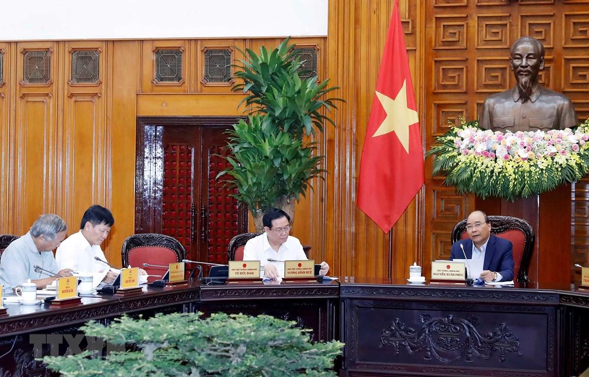 Thủ tướng Nguyễn Xuân Phúc, Trưởng Tiểu ban Kinh tế - Xã hội Đại hội lần thứ XIII của Đảng phát biểu. (Ảnh: Thống Nhất/TTXVN)