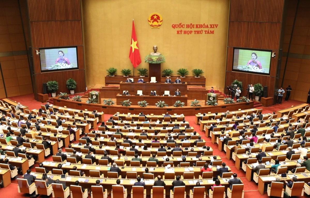 Chủ tịch Quốc hội Nguyễn Thị Kim Ngân phát biểu khai mạc. (Ảnh: Văn Điệp/TTXVN)