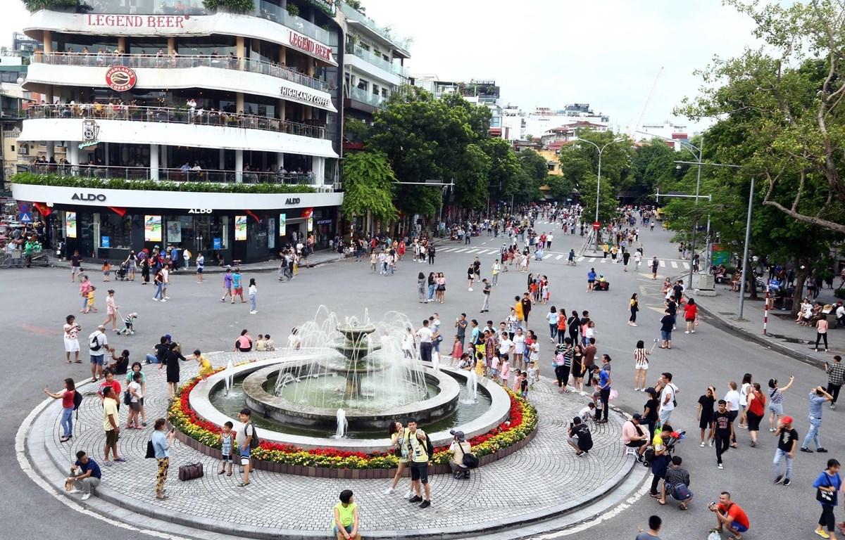 Khu phố đi bộ Hoàn Kiếm. (Ảnh: Danh Lam/TTXVN)