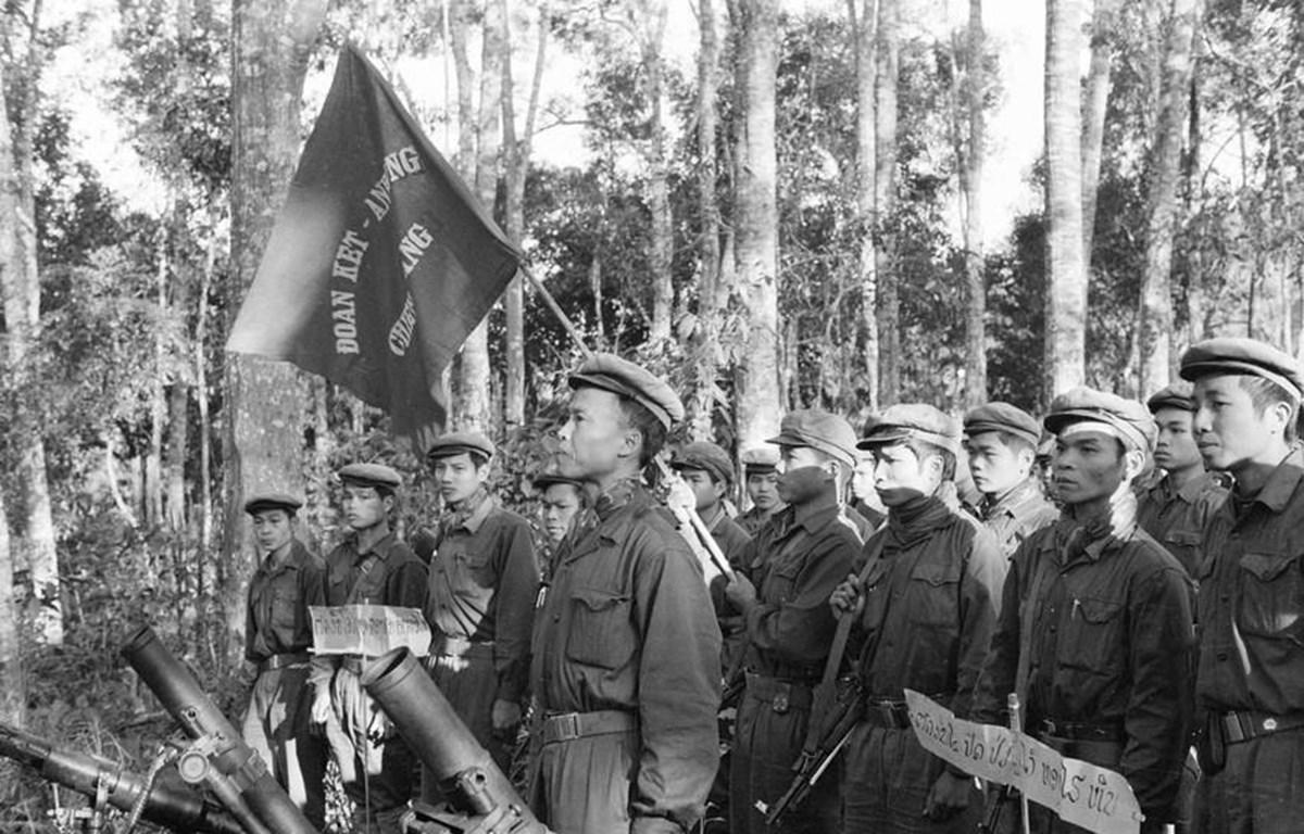 Một đơn vị quân tình nguyện Việt Nam tham gia chiến đấu trên chiến trường Lào. (Ảnh: Tư liệu TTXVN)