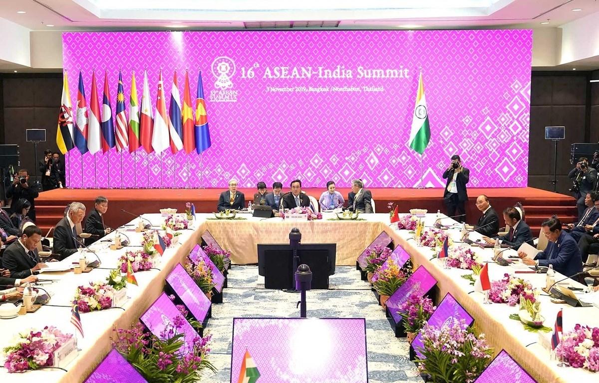 Quang cảnh Hội nghị Cấp cao ASEAN-Ấn Độ lần thứ 16. (Ảnh: Thống Nhất/TTXVN)