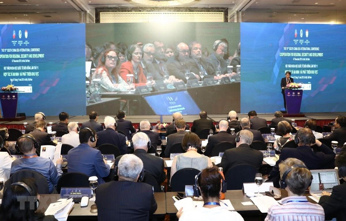 Quang cảnh hội thảo khoa học quốc tế Biển Đông lần thứ 11. (Ảnh: Văn Điệp/TTXVN)