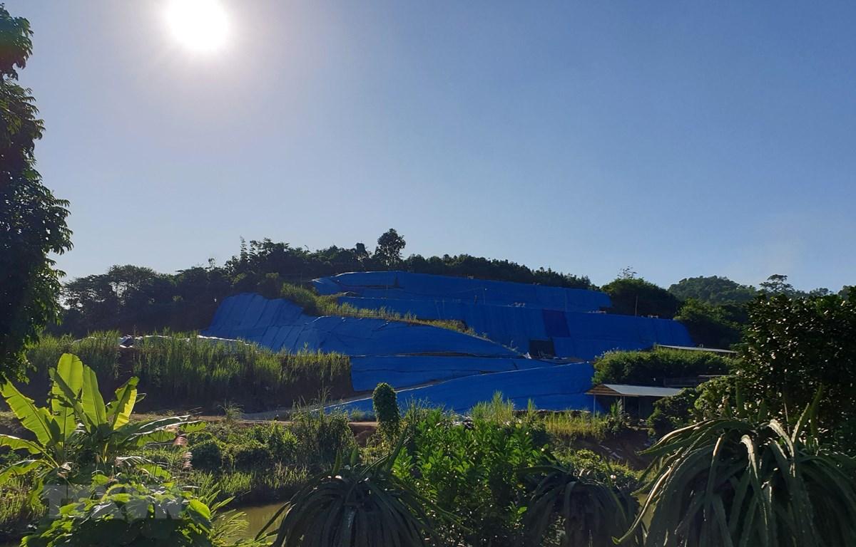 Khu vực thăm dò đất hiếm tại thôn Cánh Địa, xã Sơn Hải, huyện Bảo Thắng. (Ảnh: Quốc Khánh/TTXVN)