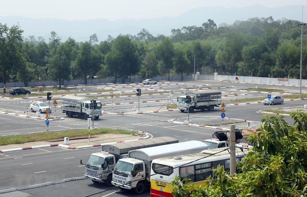 Trung tâm đào tạo và sát hạch lái xe của Trường Trung cấp nghề Hà Tĩnh. (Ảnh: Anh Tuấn/ TTXVN)
