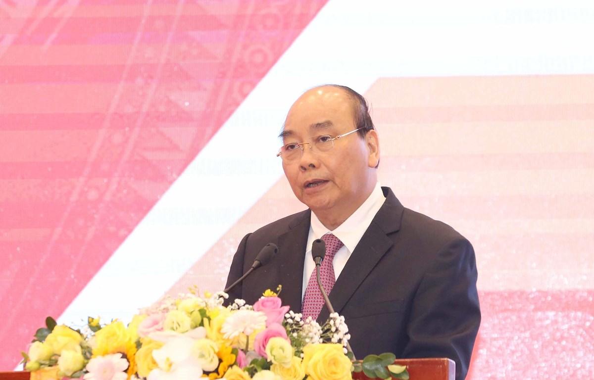 Thủ tướng Chính phủ Nguyễn Xuân Phúc phát biểu chỉ đạo hội nghị. (Ảnh: Phương Hoa/TTXVN)