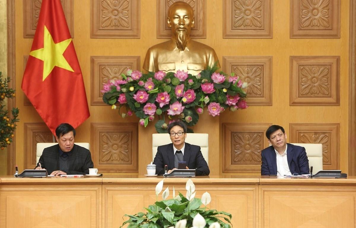 Phó Thủ tướng Vũ Đức Đam, Trưởng ban Chỉ đạo Quốc gia phòng, chống dịch bệnh viêm đường hô hấp cấp do chủng mới của virus Corona (nCoV). (Ảnh: Dương Giang/TTXVN)