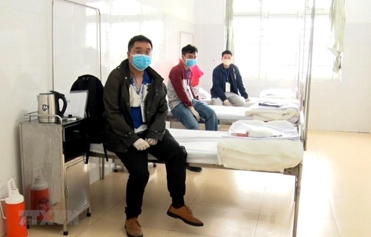 Lao động Trung Quốc nhận phòng và được cách ly tại cơ sở 2, Bệnh viện Hữu Nghị Việt Tiệp (Hải Phòng). (Ảnh: An Đăng/ TTXVN)