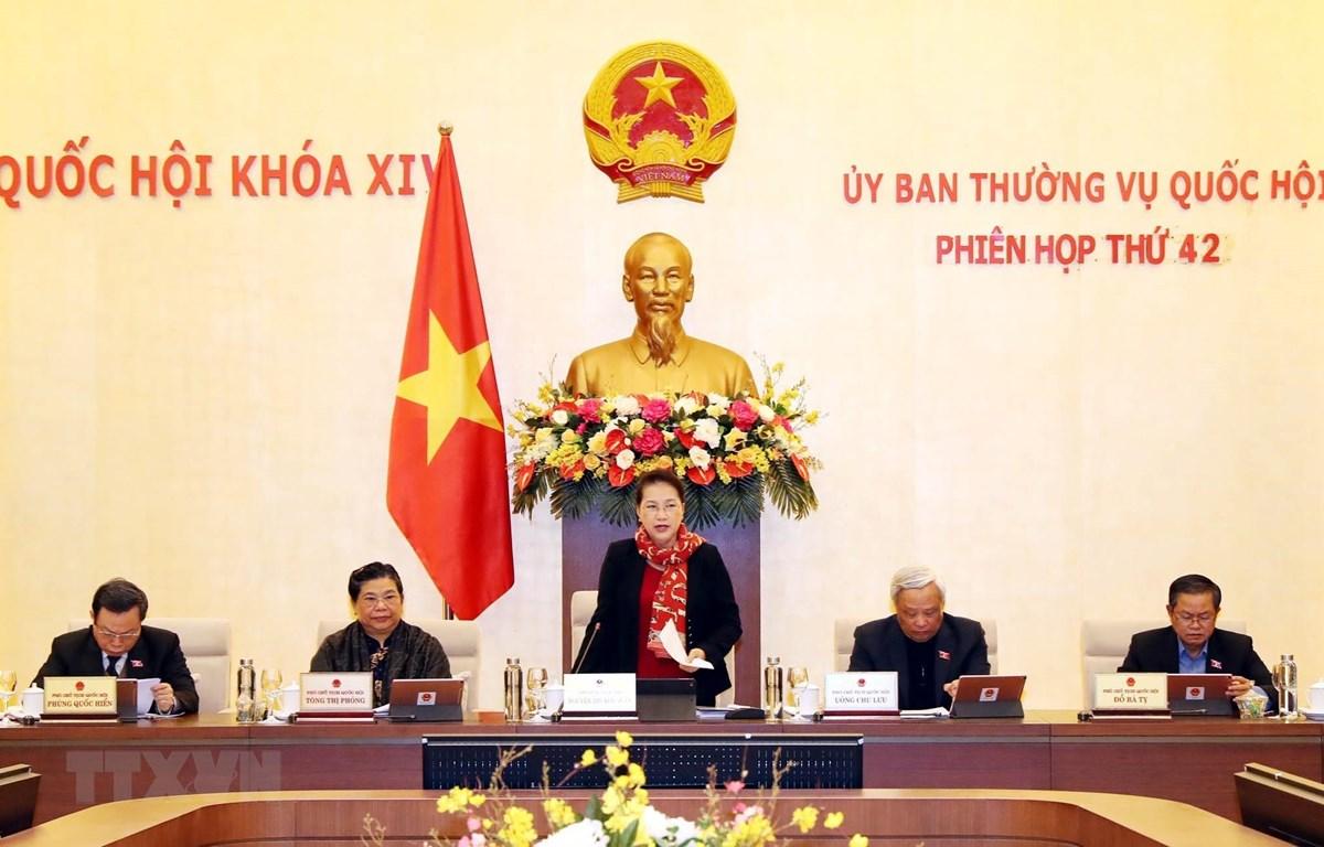 Khai mạc Phiên họp thứ 42 Ủy ban Thường vụ Quốc hội. (Ảnh: Trọng Đức/TTXVN)