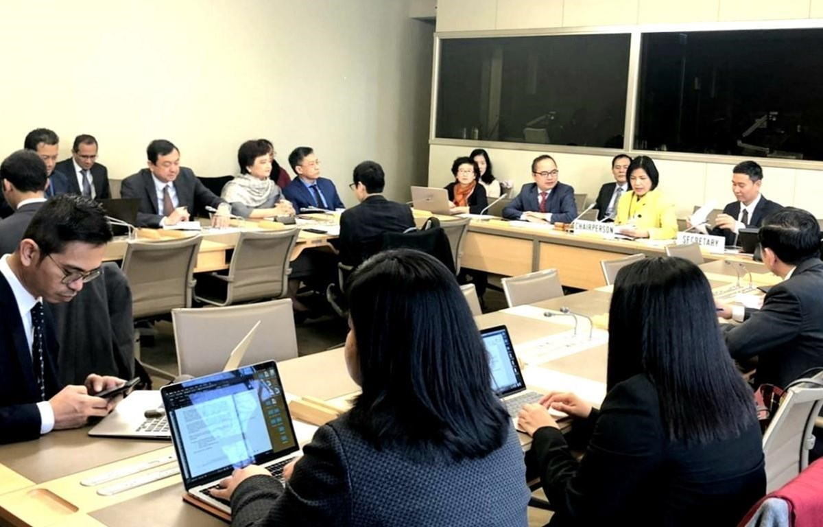 Toàn cảnh Phiên họp Ủy ban điều phối ASEAN tại Geneva (ACG) về công tác của WTO, sáng 11/02/2020 tại trụ sở của WTO. (Ảnh TTXVN)