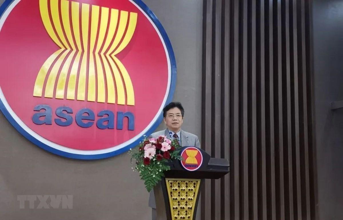 Đại sứ - Trưởng Phái đoàn Đại diện Trung Quốc tại ASEAN Đặng Tích Quân. (Ảnh: TTXVN phát)