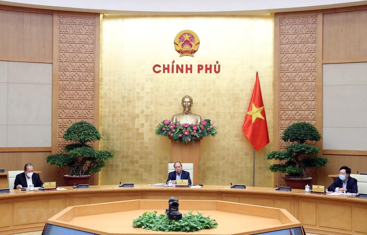 Thủ tướng Nguyễn Xuân Phúc phát biểu. (Ảnh: Thống Nhấ/TTXVN)