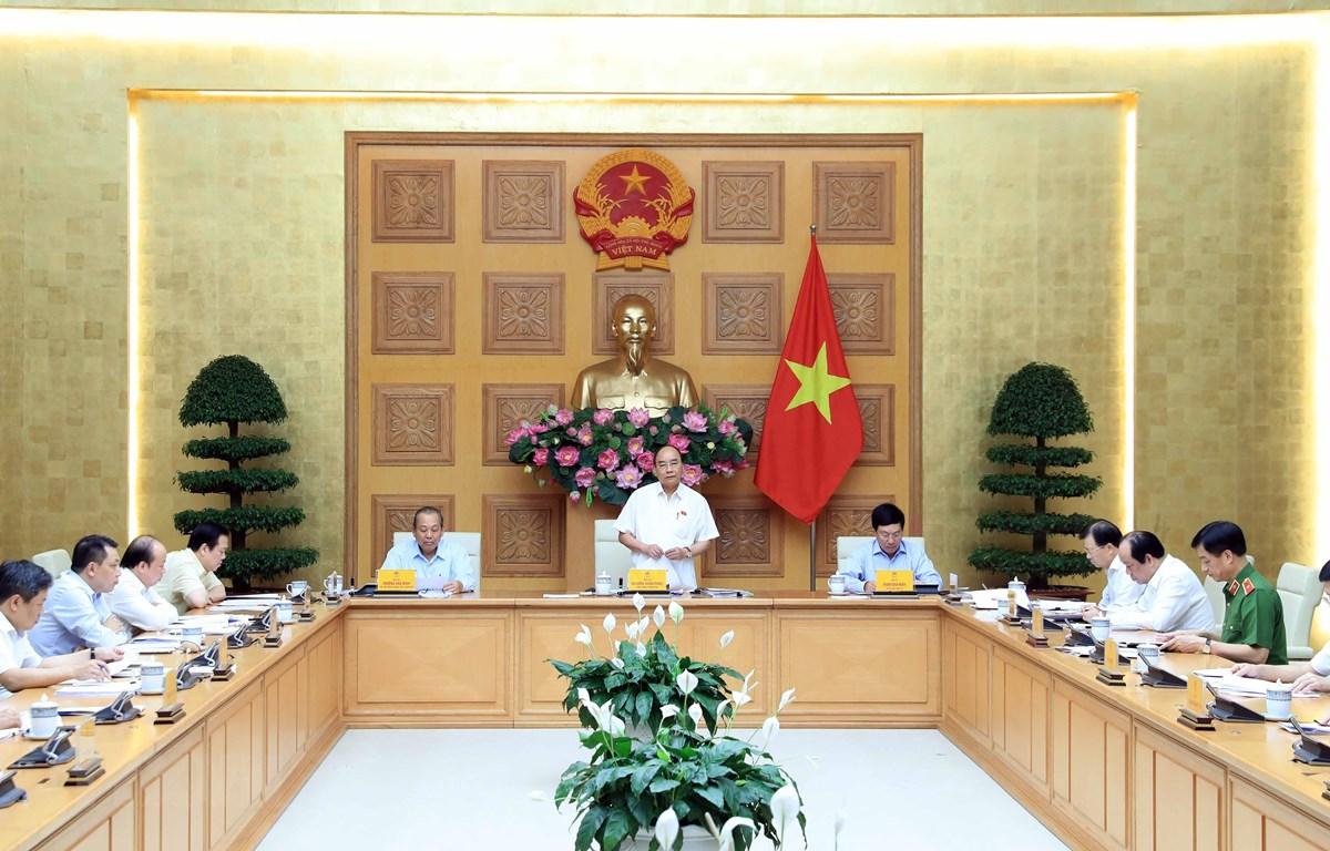 Thủ tướng Nguyễn Xuân Phúc phát biểu. (Ảnh: Thống Nhất/ TTXVN)
