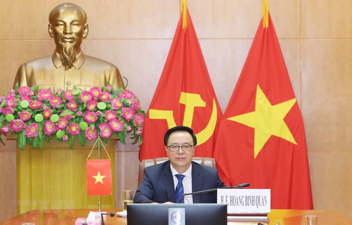Trưởng Ban Đối ngoại Trung ương Hoàng Bình Quân tham dự hội nghị. (Ảnh: Phương Hoa/TTXVN)
