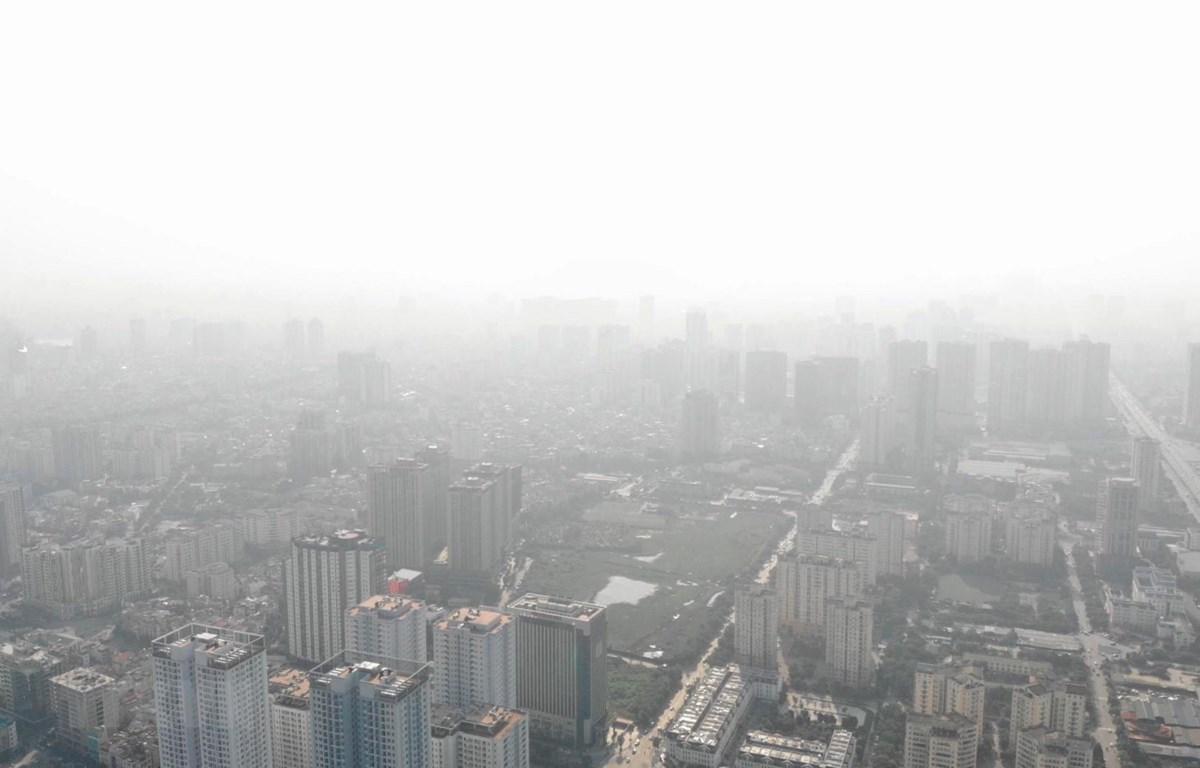 Ô nhiễm không khí tại Hà Nội. (Ảnh: TTXVN)