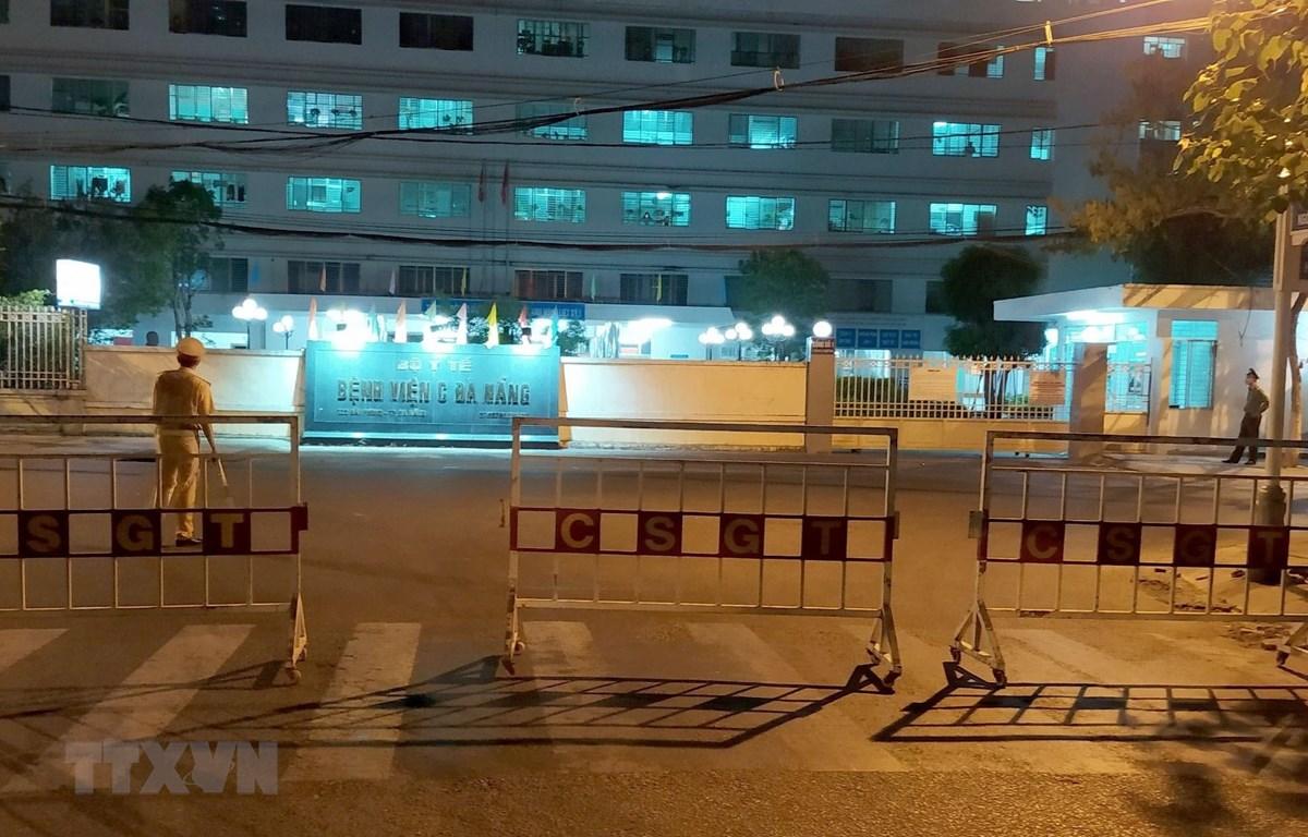 Khu vực cách ly tại Bệnh viện C Đà Nẵng. (Ảnh: Quốc Dũng/TTXVN)
