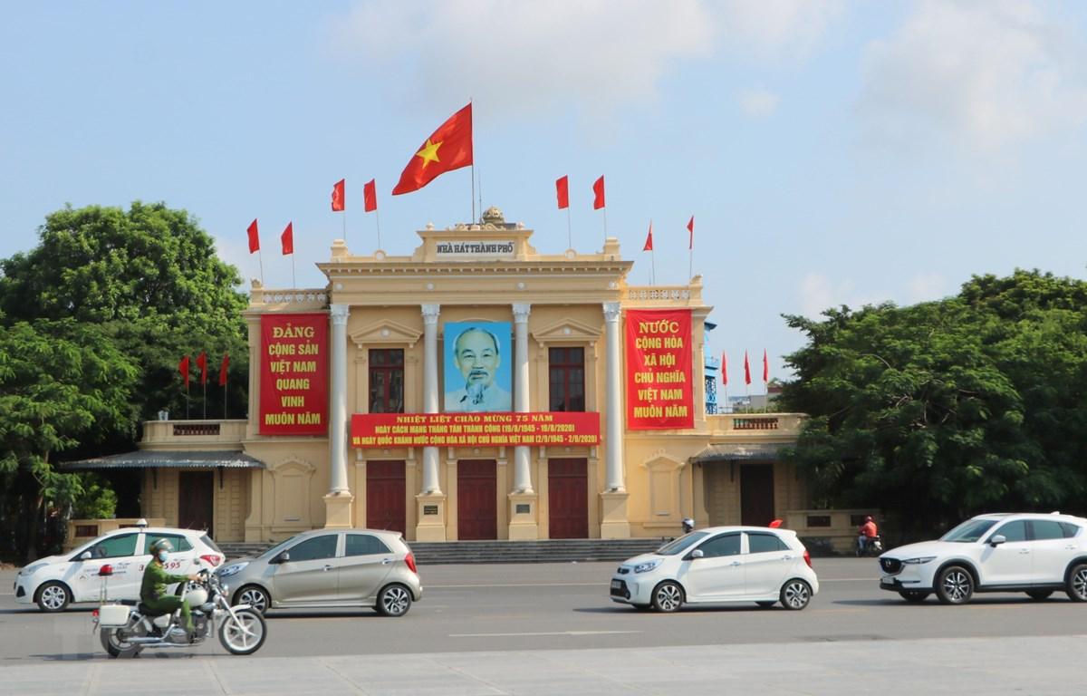 Nhà Hát lớn Thành phố Hải Phòng. (Ảnh: Minh Thu/TTXVN)