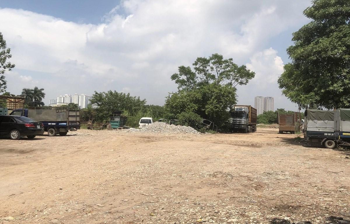 Dự án nhà ở, văn phòng Phan Trọng Tuệ (Thanh Trì) từ 2014 đến nay chưa hoàn thành giải phóng mặt bằng theo phương thức thỏa thuận. (Ảnh Mạnh Khánh/Vietnam+)