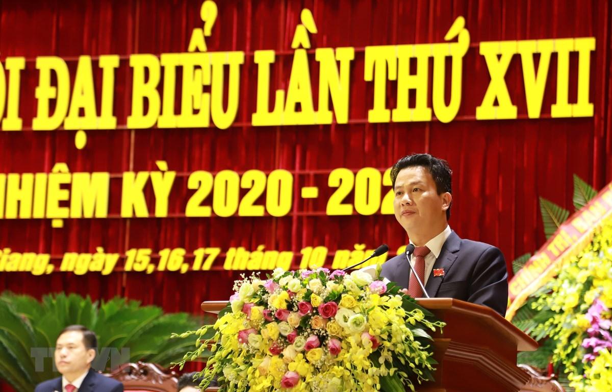 Đồng chí Đặng Quốc Khánh, Bí thư Tỉnh ủy Hà Giang khóa XVII, nhiệm kỳ 2020-2025. (Ảnh: Nguyễn Chiến/TTXVN)