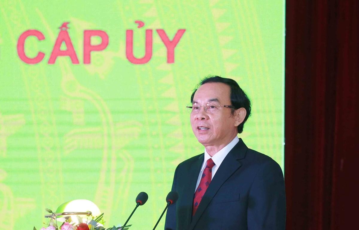 Ông Nguyễn Văn Nên được bầu giữ chức Bí thư Thành ủy Thành phố Hồ Chí Minh khóa XI. (Ảnh: Phương Hoa/TTXVN)