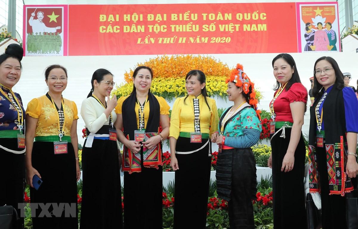 Các đại biểu dự Đại hội đại biểu toàn quốc các dân tộc thiểu số Việt Nam lần thứ II năm 2020. (Ảnh: TTXVN)
