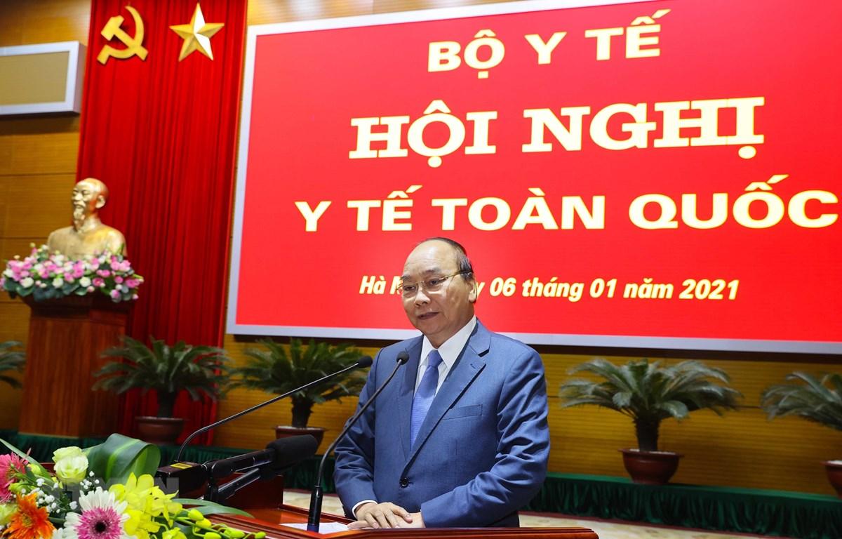 Thủ tướng Nguyễn Xuân Phúc phát biểu chỉ đạo hội nghị. Ảnh: Thống Nhất - TTXVN