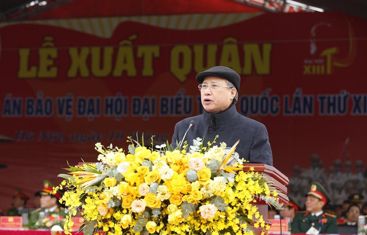 Ông Trần Quốc Vượng, Ủy viên Bộ Chính trị, Thường trực Ban Bí thư phát biểu. (Ảnh: Doãn Tấn/TTXVN)