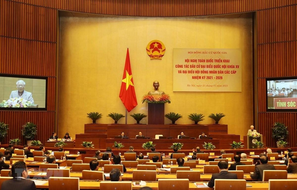 Tổng Bí thư, Chủ tịch nước Nguyễn Phú Trọng phát biểu chỉ đạo Hội nghị. (Ảnh: Trí Dũng/TTXVN)