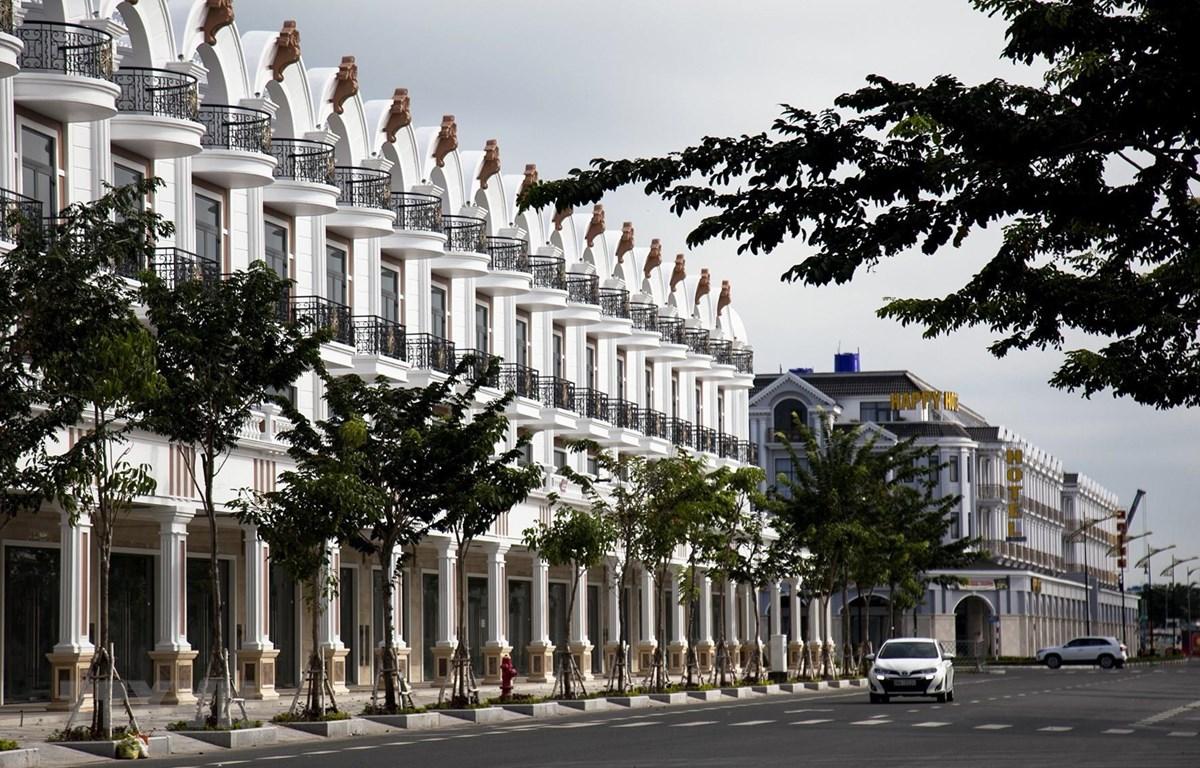 Khu đô thị lấn biển ở phường An Hòa, thành phố Rạch Giá. (Ảnh: Hồng Đạt/TTXVN)