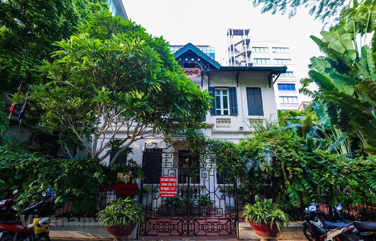 Nhà hàng Slovilla (16 phố Lý Thường Kiệt) - nơi phát hiện ông V.V.K. tử vong (Ảnh: Minh Sơn/Vietnam+)