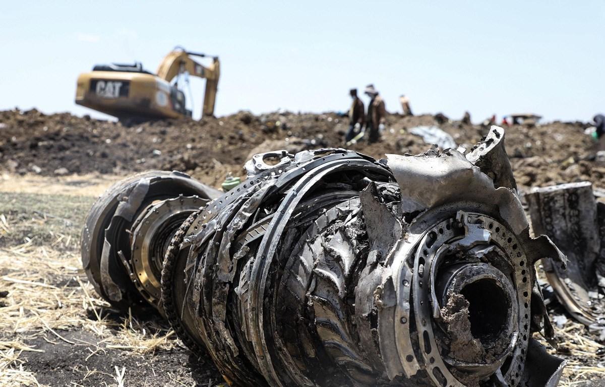 Hiện trường vụ tại nạn máy bay thảm khốc ở Ethiopia. (Nguồn: AFP/Getty Images)