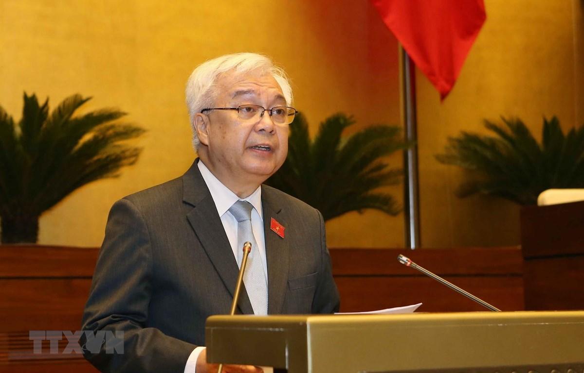 Ủy viên Ủy ban Thường vụ Quốc hội, Chủ nhiệm Ủy ban Văn hóa, Giáo dục, Thanh niên, Thiếu niên và Nhi đồng của Quốc hội Phan Thanh Bình. (Ảnh: Doãn Tấn/TTXVN)