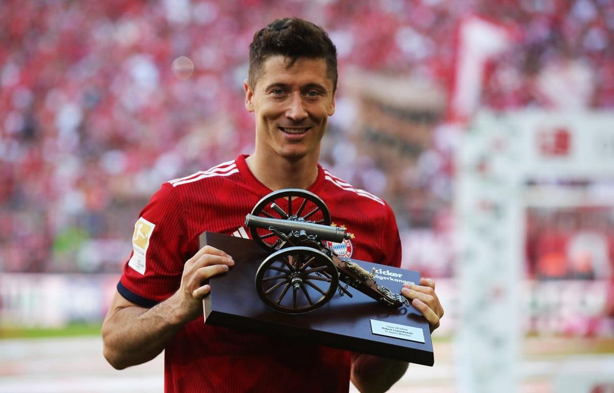 Lewandowski lần thứ tư giành danh hiệu Vua phá lưới Bundesliga. (Nguồn: Getty Images)