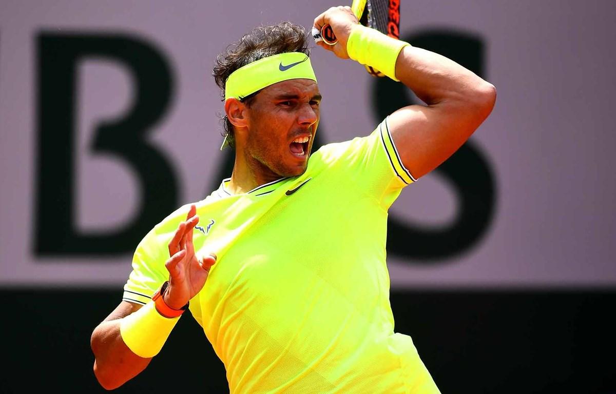 Rafael Nadal vào vòng 3 Roland Garros 2019. (Nguồn: Getty)