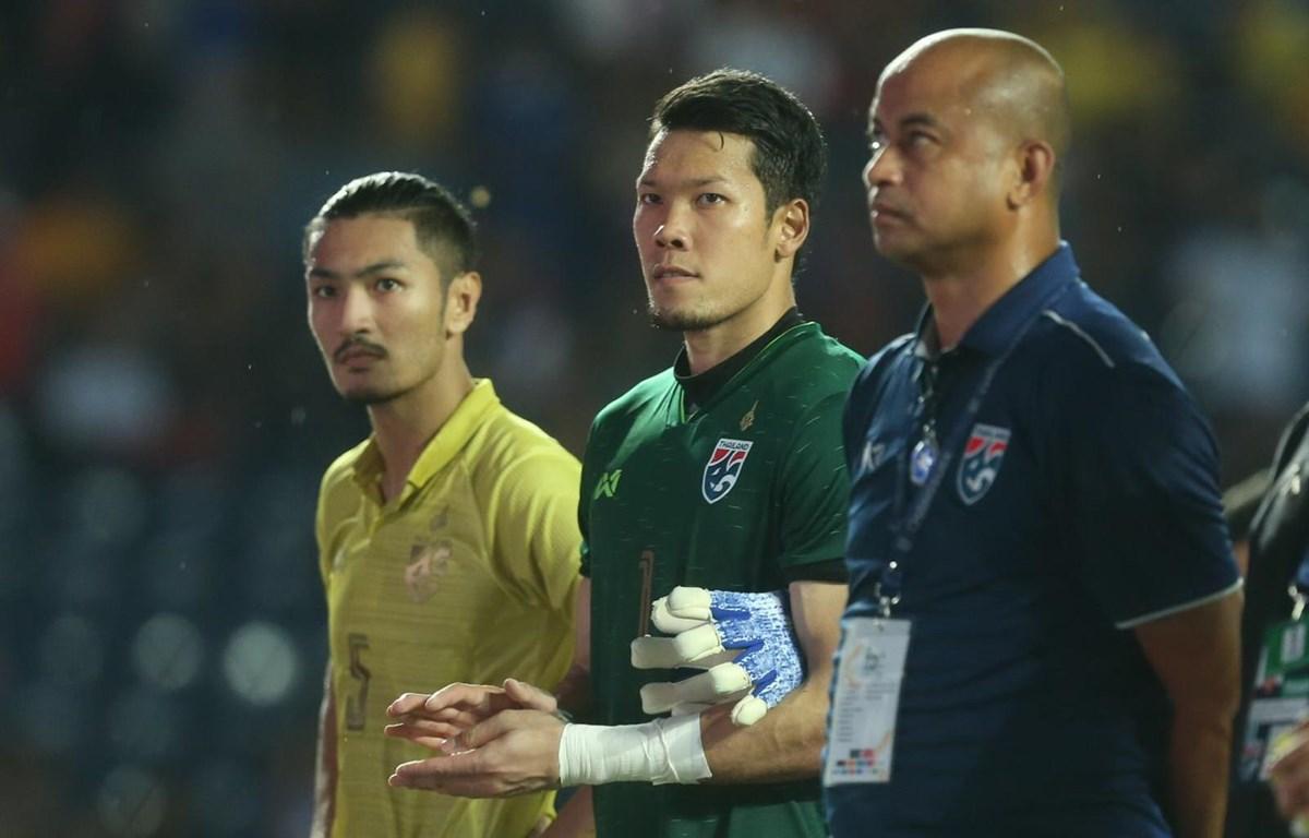 Các cầu thủ Thái Lan buồn bã sau thất bại. (Nguồn: Siam Sports)