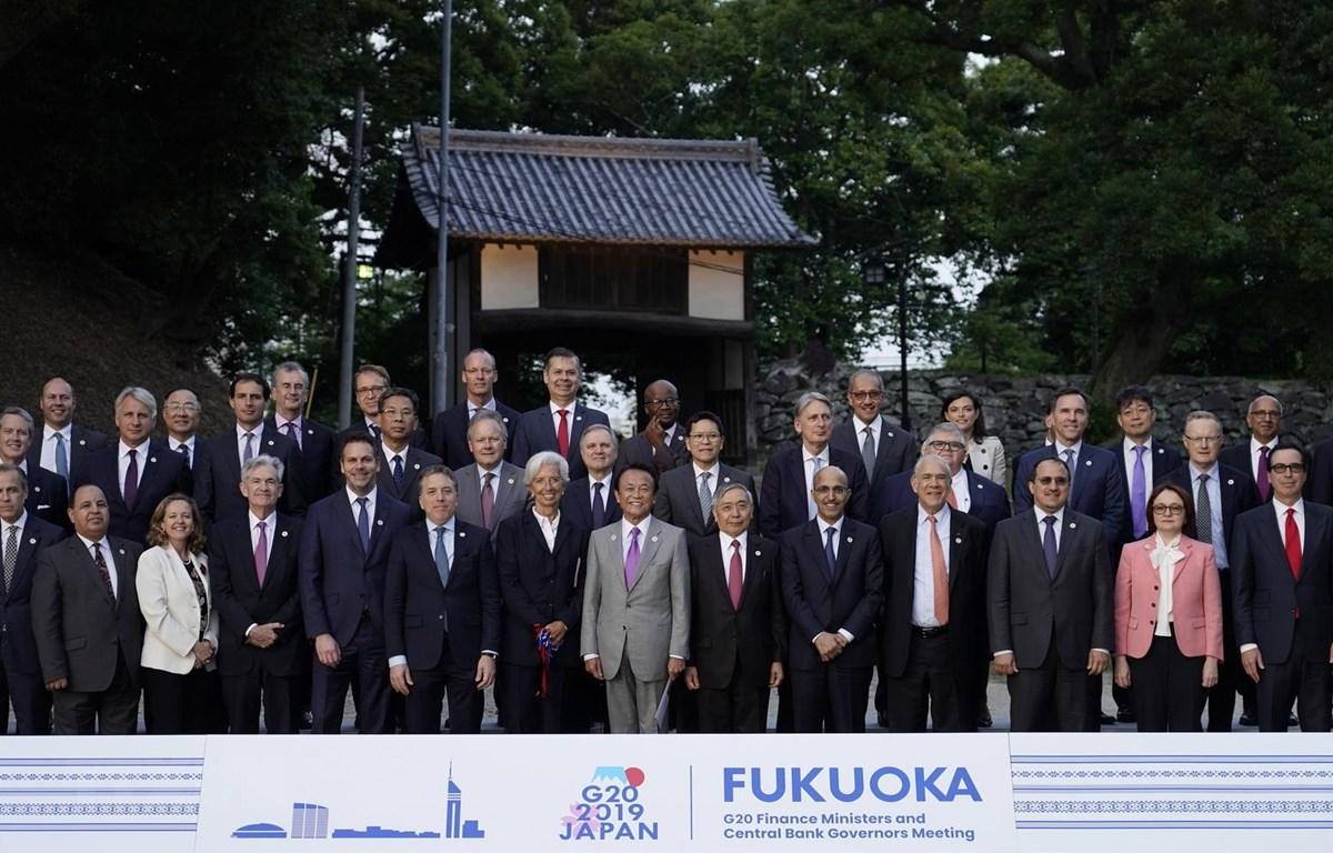 Các đại biểu chụp ảnh chung tại Hội nghị Bộ trưởng Tài chính và Thống đốc Ngân hàng Trung ương Nhóm G20. (Ảnh: AFP/TTXVN)