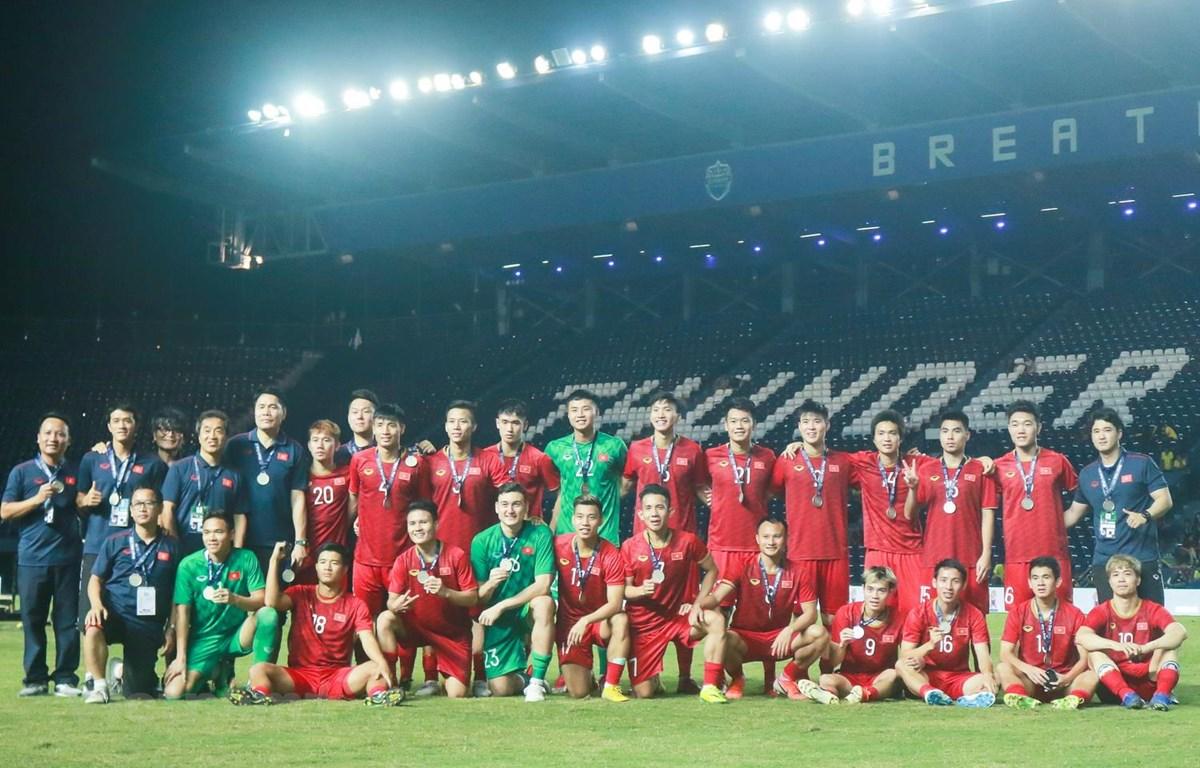 Đội tuyển Việt Nam sau trận chung kế King's Cup 2019. (Ảnh: Nguyên An/Vietnam+)