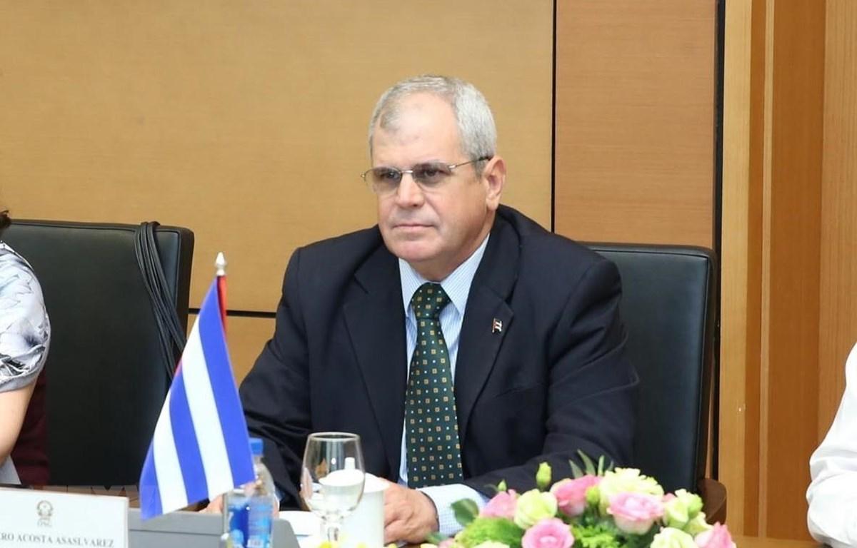 Thư ký Hội đồng Nhà nước Cuba Homero Acosta Álvarez. (Ảnh: Lâm Khánh/TTXVN)