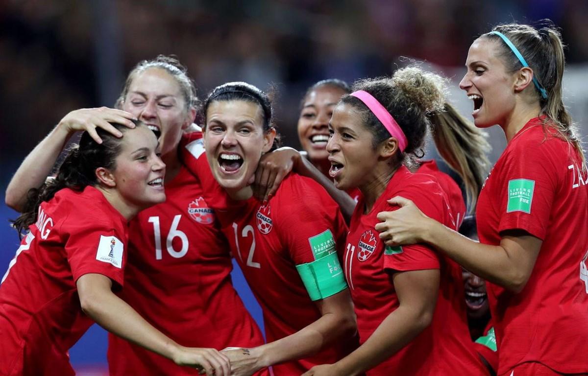 Tuyển nữ Canada vào vòng 1/8 World Cup nữ 2019. (Nguồn: Getty Images)