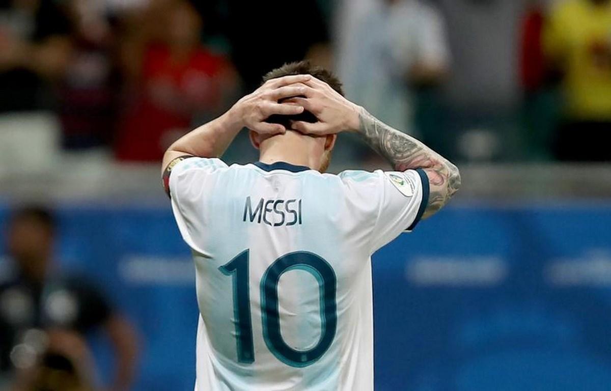 Messi mờ nhạt trong trận thua của Argentina. (Nguồn: Getty Images)