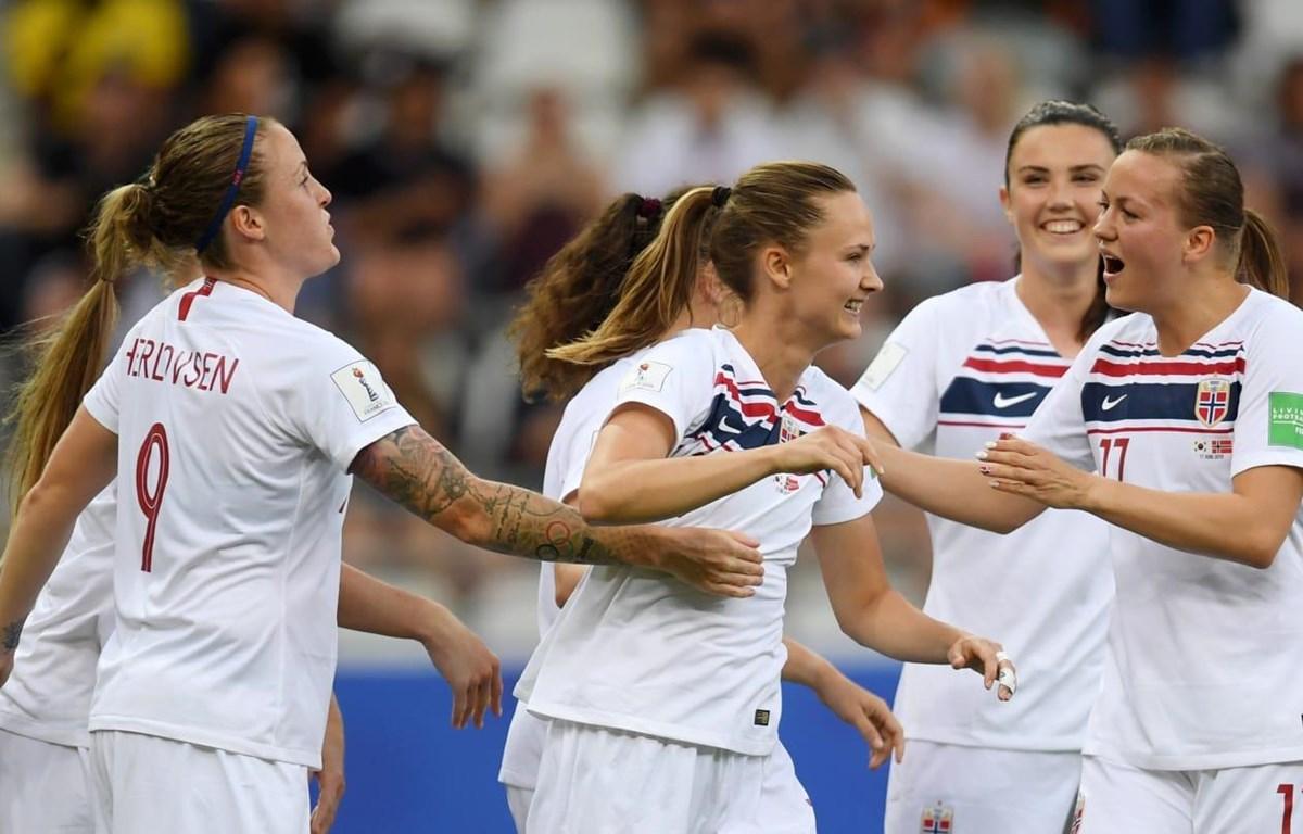 Na Uy giành vé vào vòng 1/8 World Cup nữ 2019. (Nguồn: Getty Images)