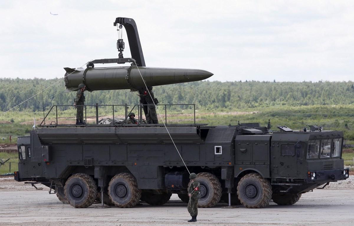 Hệ thống tên lửa đạn đạo Novator 9M729 (SSC-8) của Nga. (Ảnh: Reuters/TTXVN)