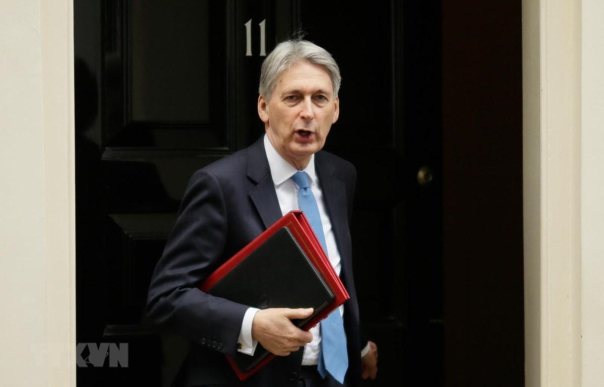 Bộ trưởng Tài chính Anh Philip Hammond. (Ảnh: THX/TTXVN)