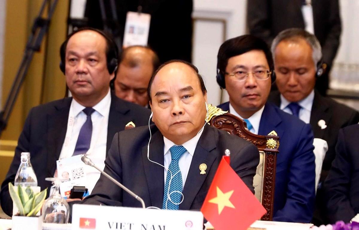 Thủ tướng Nguyễn Xuân Phúc dự Phiên toàn thể Hội nghị cấp cao ASEAN lần thứ 34. (Ảnh: Thống Nhất/TTXVN)